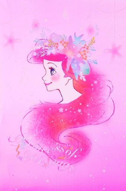 【 Disney♡Nail 】リトルマーメイドのアリエルをモチーフにしたネイルデザイン厳選