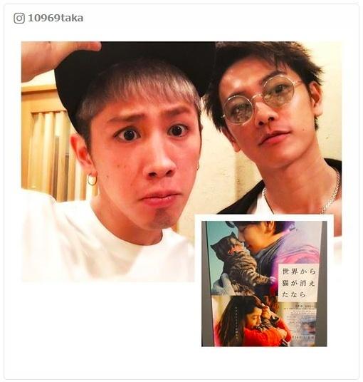 """""""親友""""佐藤健&ワンオクTakaの2ショットに反響 「せか猫」最前列鑑賞からの食事へ"""