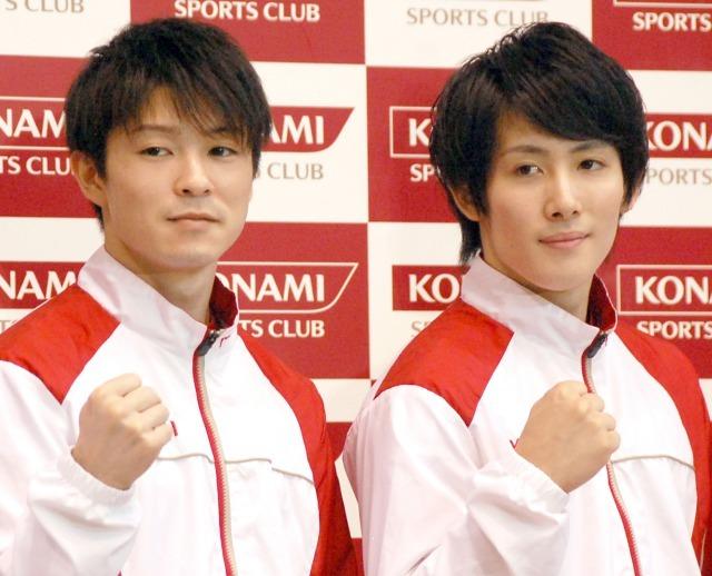 内村航平&加藤凌平選手、リオ五輪目標は「団体で金メダル」