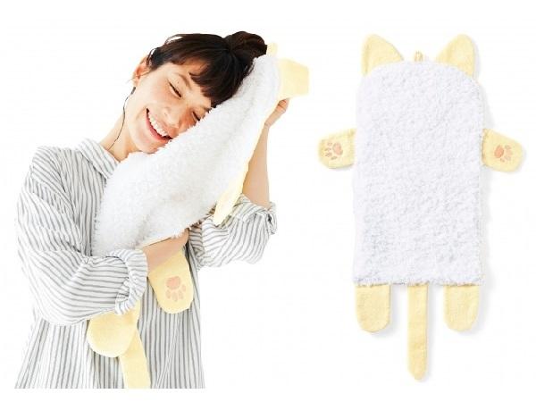 猫の胸毛に顔をうずめてモフモフ♡ そんな願望をいつでも叶えてくれるキュートなタオルが新登場!