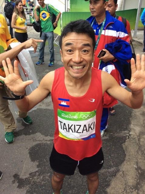 猫ひろし、五輪マラソン完走を報告 「カンボジアコール」で場内盛り上げる