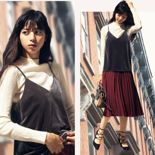 2016秋の新作【GUのプリーツスカート】で秋コーデ自由自在♥︎
