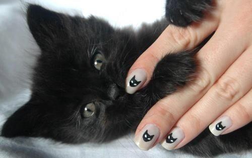 みんな大好き♡キュートな猫ネイルでわくわくする指先に。