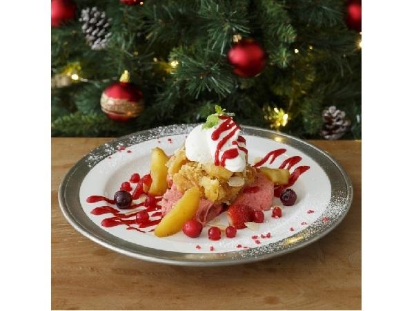 アフタヌーンティー・ティールームにXmasのりんごメニューが登場 ピンク色のフレンチトーストもかわいい!!