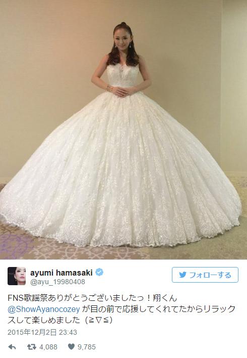 浜崎あゆみ、純白ドレスで「SEASONS」熱唱 「やはり名曲」「女