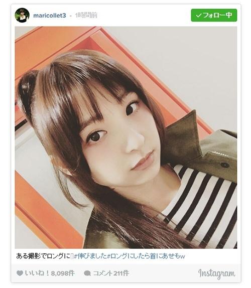 ロングヘアの篠田麻里子に「別人?」「たかみなかと思った」の声