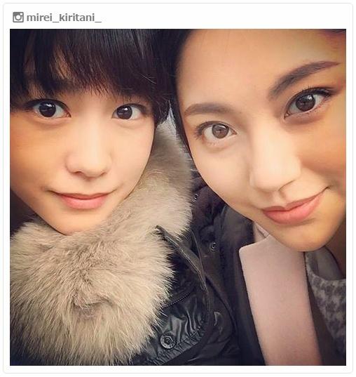 """桐谷美玲&水沢エレナ""""「Seventeen」以来""""の美女2ショットに「懐かしい」「大好き」"""