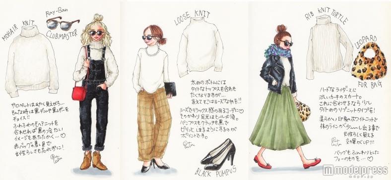 おしゃれさんこそ万能「白タートル」♡春服の誘惑を乗り切る防寒テク