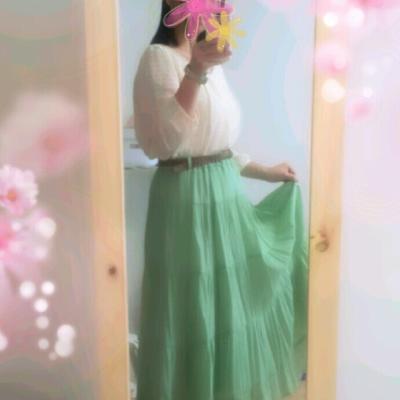 ロングスカートで大人可愛く♡春だから重くならないの!
