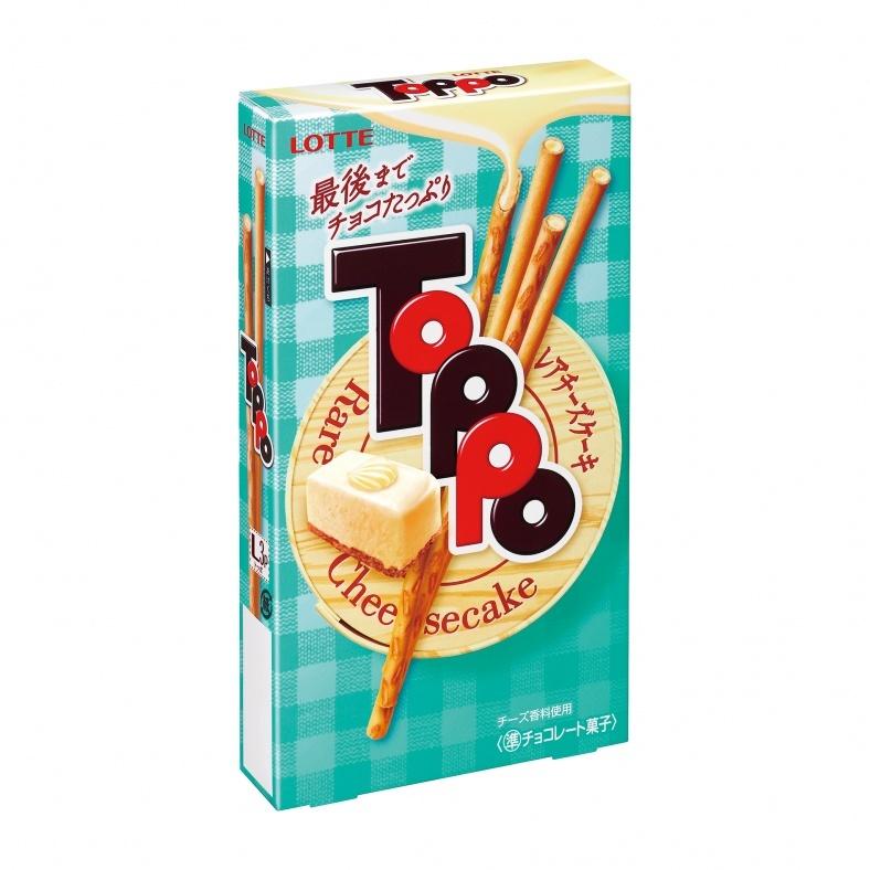 トッポ、「レアチーズケーキ」味登場 春らしい爽やかな味わい