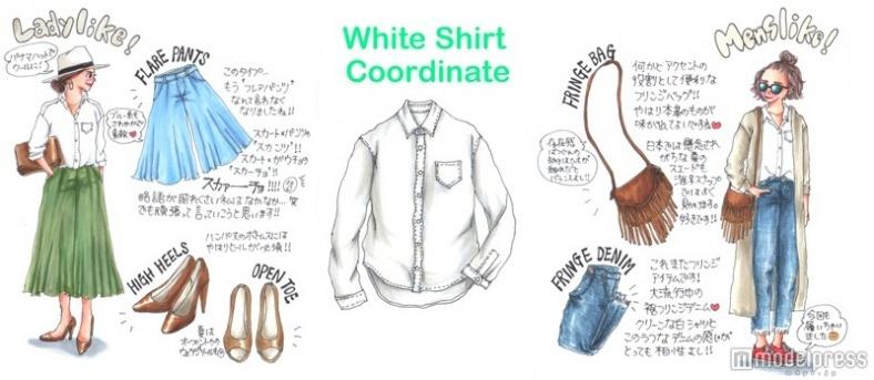 """誰でも似合う「白シャツ」を今年っぽく!+流行アイテムで""""なりたい""""を叶える"""