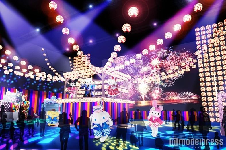 ハローキティら人気キャラの縁日&イルミ演出…ピューロランドの夏祭り