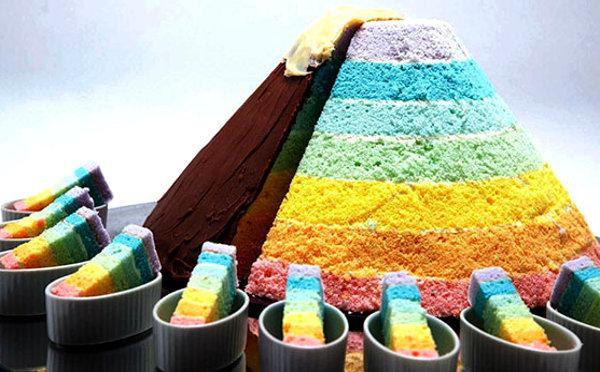 山ガール必食!「山の日」がテーマのカラフルなレインボーケーキが限定発売