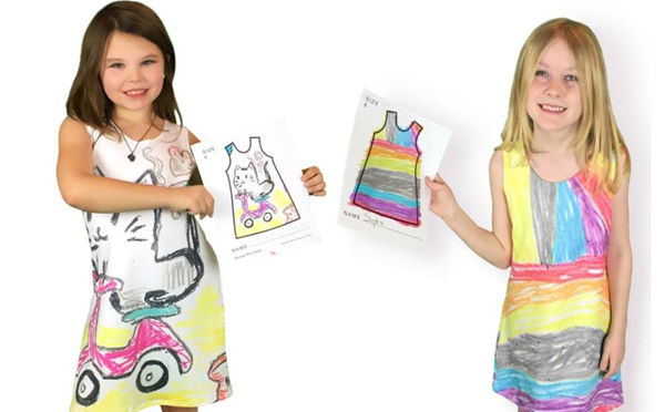 未来のファッションデザイナーが誕生するかも!?子どものお絵描きでワンピースを作るサービスがステキ♡