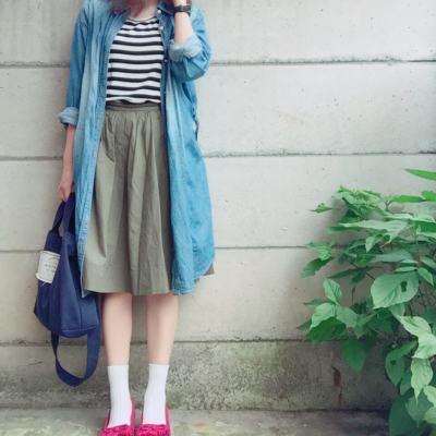 脱マンネリ★【デニムシャツ】着回し5パターン♡