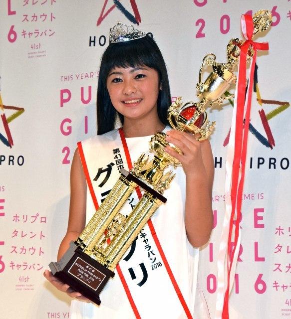 ホリプロTSC最年少GPの柳田咲良さん ランドセルで通学「ごく普通の小学生」
