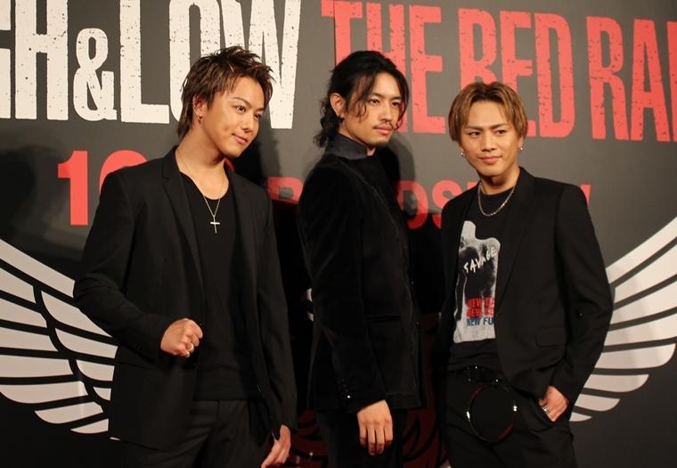 TAKAHIRO「怒られるのが怖い」と全裸断念?『HiGH&LOW THE RED RAIN』舞台挨拶