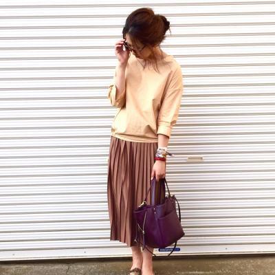 プリーツスカートでふんわり秋を楽しもう♫