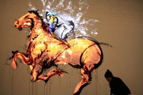 気鋭の墨絵師と最新CGのコラボが凄すぎる「命が吹き込まれたみたい!」