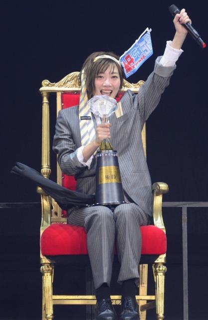 【AKBじゃんけん大会】田名部生来が7代目女王 「どっきりですか?」と号泣