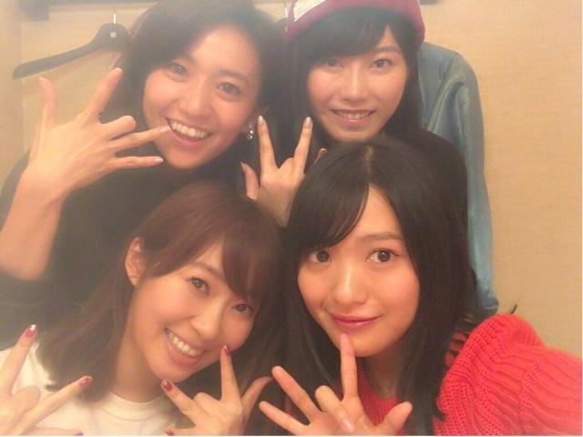 人気ユニット・Not yetが久しぶりに集合 優子、指原、北原、横山の姿にファンも大興奮