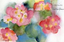 上品な華やかさ!水彩フラワーネイル特集