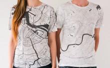 東京やNYも!地図になったTシャツがシンプルでおしゃれ