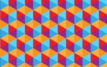 幾何学模様で個性派ネイル♪ジオメトリックって呼び方もカッコイイ!