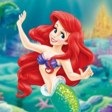 【海ネイル】人気のディズニープリンセスから「アリエル」を描いたネイルデザインたち♪