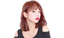 肌が白く綺麗に見える!可愛い『レッド・ピンク系』カラーのミディアムヘア4選