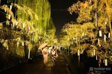京都の街が七夕一色に 織姫と彦星の恋物語を描く