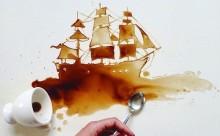 """こぼれたコーヒーがアートに!""""シミ""""を活かしたおしゃれな写真シリーズ"""