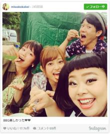 渡辺直美&筧美和子&菊地亜美&ペナルティ・ヒデがBBQ 異色メンバーに反響
