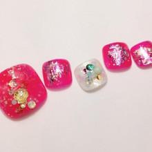 """""""いつだってしたい♡""""夏い【フットネイル】ピンク2015"""