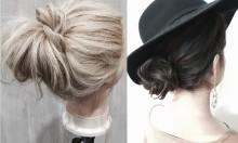 【動画あり】『今どきかわいい=ラフ感』。ふんわり簡単シニヨンでハットを着こなす♡
