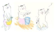 いじらしい可愛さ♡「今日の猫村さん」の手描きゆるかわネイル