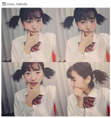 ショートカット美女・武田玲奈、制服×ミニツインテ姿に絶賛の嵐「天使」「癒される」