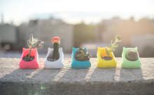 """春はお部屋に小さな緑を!3Dプリンター製の""""動物プランター""""がかわいい!"""