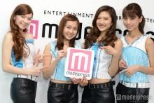"""4K映像で光る""美女グループ・4K Girls、「モデルプレスTV」に生出演<スタジオ潜入&インタビュー>"