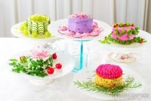 まるでケーキ!カラフル野菜で作る「ベジデコサラダ」カフェが誕生 パステルカラーに一目惚れ