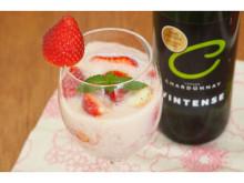 GWはおうちカクテルを楽しもう!本格的ノンアルコール白ワインで作る、春色の「ミルキーストロベリーカクテル」