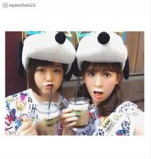 小嶋陽菜&峯岸みなみのUSJお揃いコーデに反響「可愛すぎ」「癒される」