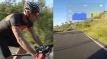 これ欲しい!自転車の速度や消費カロリーがリアルタイムで見られるスマートアイウェア