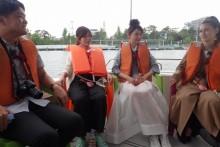 ダレノガレ明美&おのののか、日帰りで瀬戸内海の島をはしご旅