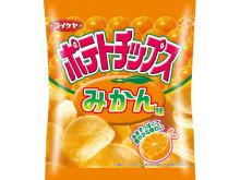 この夏再登場!「ポテトチップス みかん味」あまずっぱくて爽やかな味わい♪