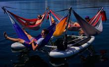 究極のリラックス体験ができちゃう♪カヌーに設置するハンモックがめちゃくちゃ楽しそう!