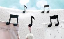ありそうでなかった!音符型の洗濯バサミで洗濯物干しが楽しくなりそう♪