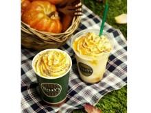 """丸ごとパンプキンを楽しめる♪ タリーズに秋の味覚""""かぼちゃと林檎""""を満喫できるドリンクが登場"""