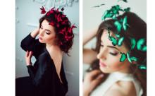頭の上に蝶々がひらひら♪ハンドメイドのヘアアクセサリーが可愛い
