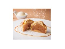 林檎のパイに雪が舞う!温かいXmasスイーツが登場